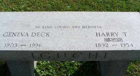 DECK IGUCHI, GENEVA - Greene County, Ohio | GENEVA DECK IGUCHI - Ohio Gravestone Photos