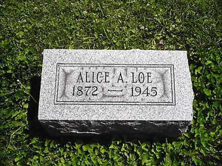 LOE, ALICE A - Greene County, Ohio | ALICE A LOE - Ohio Gravestone Photos
