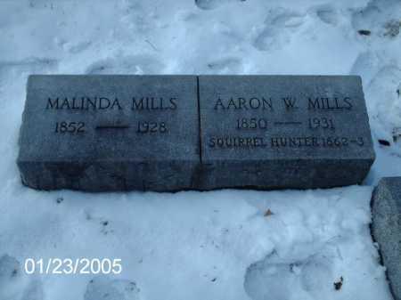 MILLS, AARON W. - Greene County, Ohio | AARON W. MILLS - Ohio Gravestone Photos