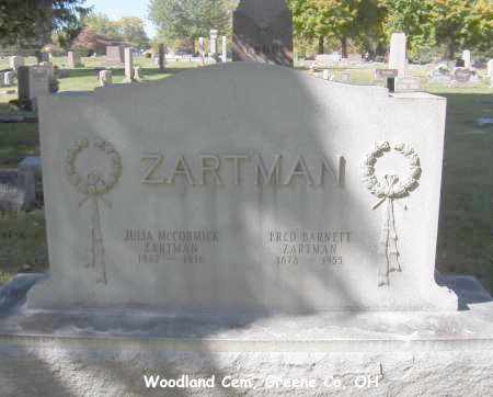 ZARTMAN, JULIA - Greene County, Ohio | JULIA ZARTMAN - Ohio Gravestone Photos