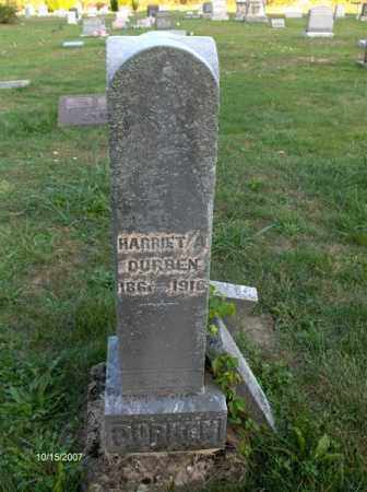 DURBEN, HARRIETT - Guernsey County, Ohio | HARRIETT DURBEN - Ohio Gravestone Photos
