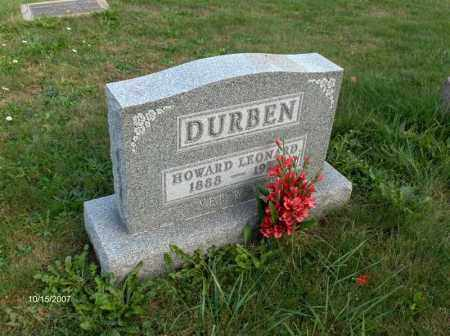 DURBEN, HOWARD - Guernsey County, Ohio | HOWARD DURBEN - Ohio Gravestone Photos