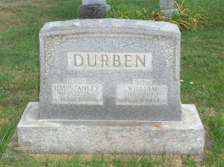 DURBEN, WILLIAM - Guernsey County, Ohio | WILLIAM DURBEN - Ohio Gravestone Photos