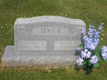 DYER, MARSHALL MYRON - Guernsey County, Ohio | MARSHALL MYRON DYER - Ohio Gravestone Photos