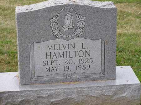 HAMILTON, MELVIN L - Guernsey County, Ohio | MELVIN L HAMILTON - Ohio Gravestone Photos
