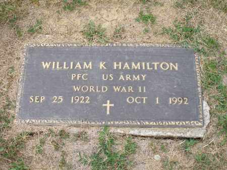 HAMILTON, WILLIAM K. - Guernsey County, Ohio | WILLIAM K. HAMILTON - Ohio Gravestone Photos