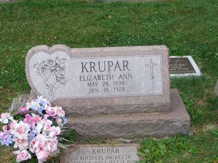 KRUPAR, ELIZABETH ANN - Guernsey County, Ohio | ELIZABETH ANN KRUPAR - Ohio Gravestone Photos