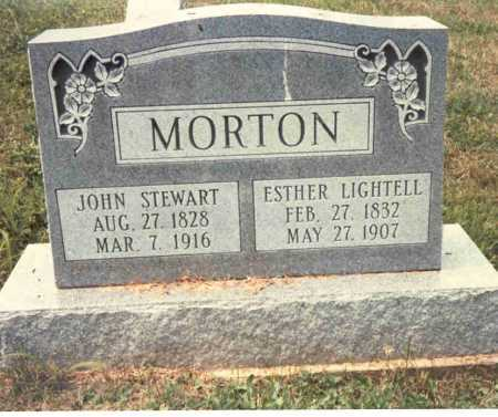 LIGHTELL MORTON, ESTHER - Guernsey County, Ohio | ESTHER LIGHTELL MORTON - Ohio Gravestone Photos