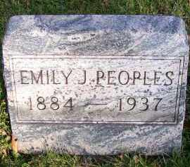 CUNNINGHAM PEOPLES, EMILY JANE - Guernsey County, Ohio | EMILY JANE CUNNINGHAM PEOPLES - Ohio Gravestone Photos
