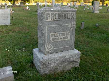 PROCTOR, WESTON M - Guernsey County, Ohio | WESTON M PROCTOR - Ohio Gravestone Photos