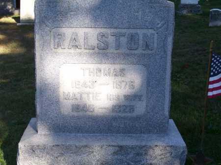 RALSTON, THOMAS - Guernsey County, Ohio | THOMAS RALSTON - Ohio Gravestone Photos