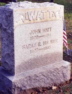 WATT, JOHN - Guernsey County, Ohio | JOHN WATT - Ohio Gravestone Photos