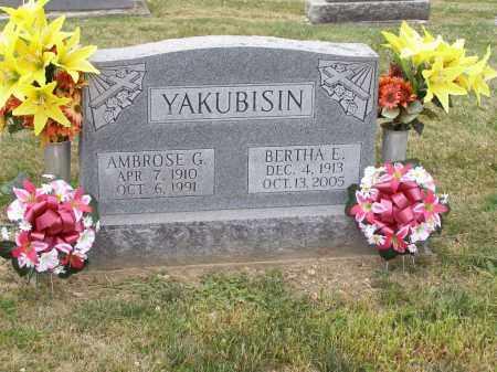 YAKUBISIN, AMBROSE G. - Guernsey County, Ohio | AMBROSE G. YAKUBISIN - Ohio Gravestone Photos