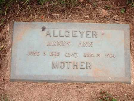 ALLGEYER, AGNES ANN - Hamilton County, Ohio | AGNES ANN ALLGEYER - Ohio Gravestone Photos