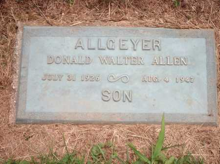 ALLGEYER, DONALD WALTER ALLEN - Hamilton County, Ohio | DONALD WALTER ALLEN ALLGEYER - Ohio Gravestone Photos