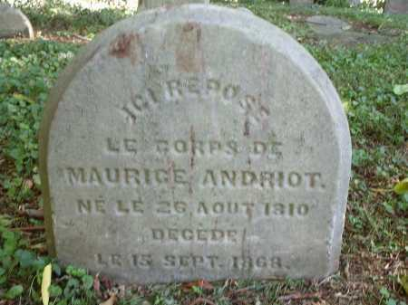ANDRIOT, MAURICE - Hamilton County, Ohio | MAURICE ANDRIOT - Ohio Gravestone Photos