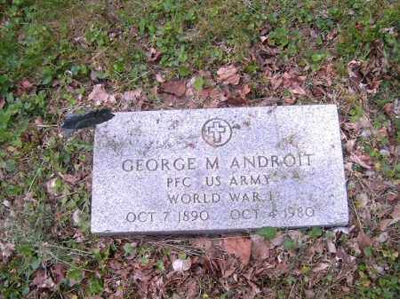 ANDROIT, GEORGE  M - Hamilton County, Ohio | GEORGE  M ANDROIT - Ohio Gravestone Photos