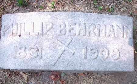 BEHRMANN, PHILLIP - Hamilton County, Ohio | PHILLIP BEHRMANN - Ohio Gravestone Photos