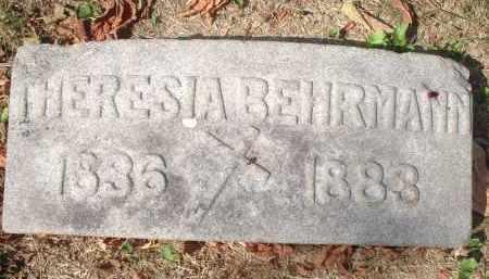 BEHRMANN, THERESIA - Hamilton County, Ohio | THERESIA BEHRMANN - Ohio Gravestone Photos