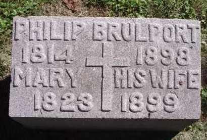 BRULPORT, MARY - Hamilton County, Ohio | MARY BRULPORT - Ohio Gravestone Photos