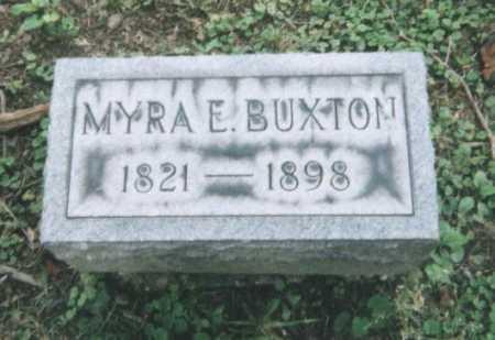 BUXTON, MYRA E. - Hamilton County, Ohio | MYRA E. BUXTON - Ohio Gravestone Photos
