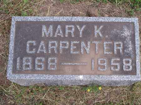 KNEIPP CARPENTER, MARY - Hamilton County, Ohio | MARY KNEIPP CARPENTER - Ohio Gravestone Photos