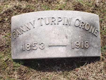 CRONE, FANNY - Hamilton County, Ohio | FANNY CRONE - Ohio Gravestone Photos