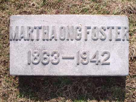 ONG FOSTER, MARTHA - Hamilton County, Ohio | MARTHA ONG FOSTER - Ohio Gravestone Photos