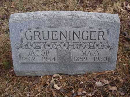 GRUENINGER, JACOB - Hamilton County, Ohio | JACOB GRUENINGER - Ohio Gravestone Photos