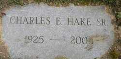 HAKE, CHARLES ELMER, - Hamilton County, Ohio   CHARLES ELMER, HAKE - Ohio Gravestone Photos