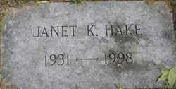 GLASSMEYER HAKE, JANET KATHRYN - Hamilton County, Ohio | JANET KATHRYN GLASSMEYER HAKE - Ohio Gravestone Photos