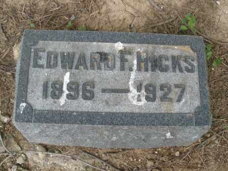 HICKS, EDWARD - Hamilton County, Ohio | EDWARD HICKS - Ohio Gravestone Photos