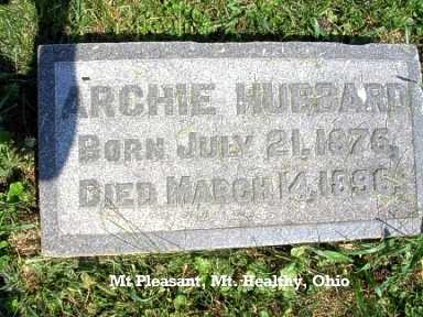 HUBBARD, ARCHIE - Hamilton County, Ohio | ARCHIE HUBBARD - Ohio Gravestone Photos