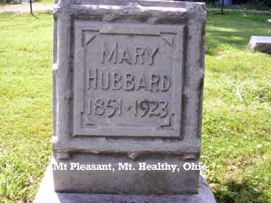 GARDNER HUBBARD, MARY - Hamilton County, Ohio | MARY GARDNER HUBBARD - Ohio Gravestone Photos