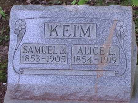KEIM, ALICE L. - Hamilton County, Ohio | ALICE L. KEIM - Ohio Gravestone Photos