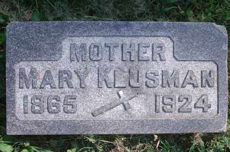 KLUSMAN, MARY - Hamilton County, Ohio | MARY KLUSMAN - Ohio Gravestone Photos