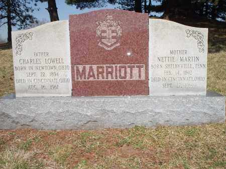 MARTIN MARRIOTT, NETTIE - Hamilton County, Ohio | NETTIE MARTIN MARRIOTT - Ohio Gravestone Photos