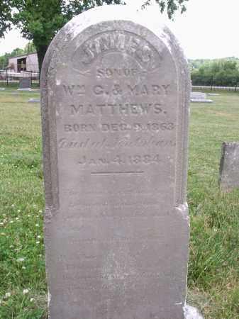 MATTHEWS, JAMES - Hamilton County, Ohio | JAMES MATTHEWS - Ohio Gravestone Photos