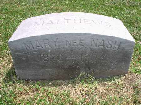 MATTHEWS, MARY - Hamilton County, Ohio | MARY MATTHEWS - Ohio Gravestone Photos
