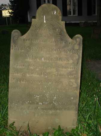 MCCORMICK, PATSEY - Hamilton County, Ohio | PATSEY MCCORMICK - Ohio Gravestone Photos