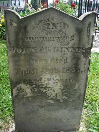 MCGINNIS, JOHN - Hamilton County, Ohio | JOHN MCGINNIS - Ohio Gravestone Photos