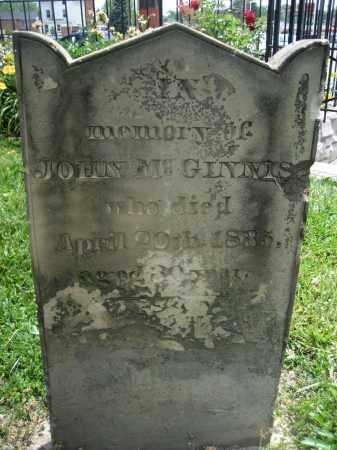 MCGINNIS, JOHN - Hamilton County, Ohio | JOHN MCGINNIS - Ohio Gravestone Photos