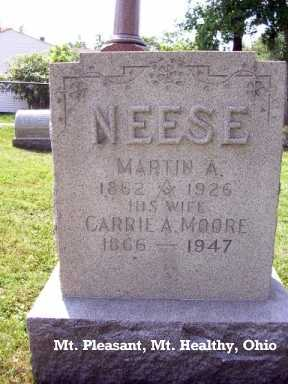 NEESE, CARRIE ANN - Hamilton County, Ohio | CARRIE ANN NEESE - Ohio Gravestone Photos