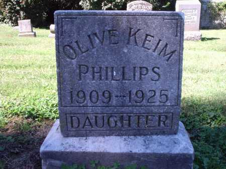 KEIM OLIVE, PHILLIPS - Hamilton County, Ohio | PHILLIPS KEIM OLIVE - Ohio Gravestone Photos