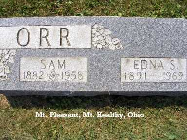 ORR, SAMUEL - Hamilton County, Ohio | SAMUEL ORR - Ohio Gravestone Photos