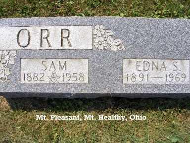 ORR, EDNA - Hamilton County, Ohio | EDNA ORR - Ohio Gravestone Photos