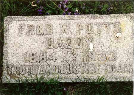 POTTS, FRED W. - Hamilton County, Ohio | FRED W. POTTS - Ohio Gravestone Photos