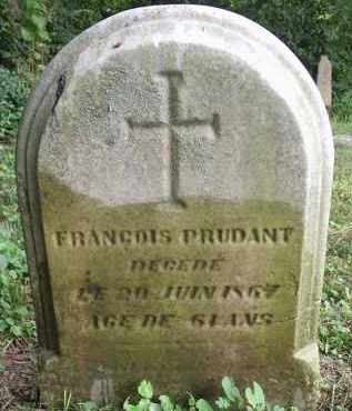 PRUDANT, FRANGOIS - Hamilton County, Ohio | FRANGOIS PRUDANT - Ohio Gravestone Photos