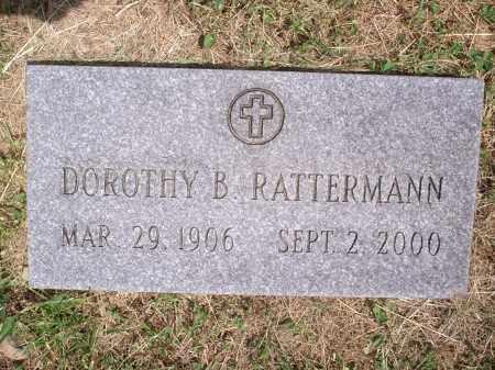 RATTERMANN, DOROTHY B. - Hamilton County, Ohio | DOROTHY B. RATTERMANN - Ohio Gravestone Photos