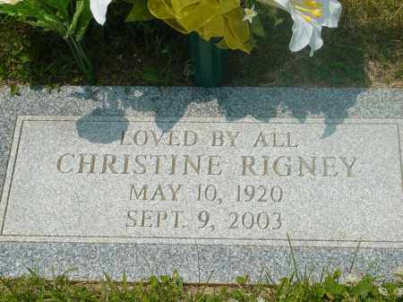 RIGNEY, CHRISTINE - Hamilton County, Ohio | CHRISTINE RIGNEY - Ohio Gravestone Photos